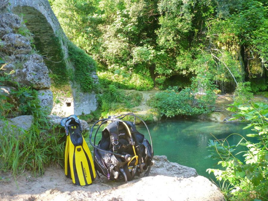 Découverte de la plongée en rivière