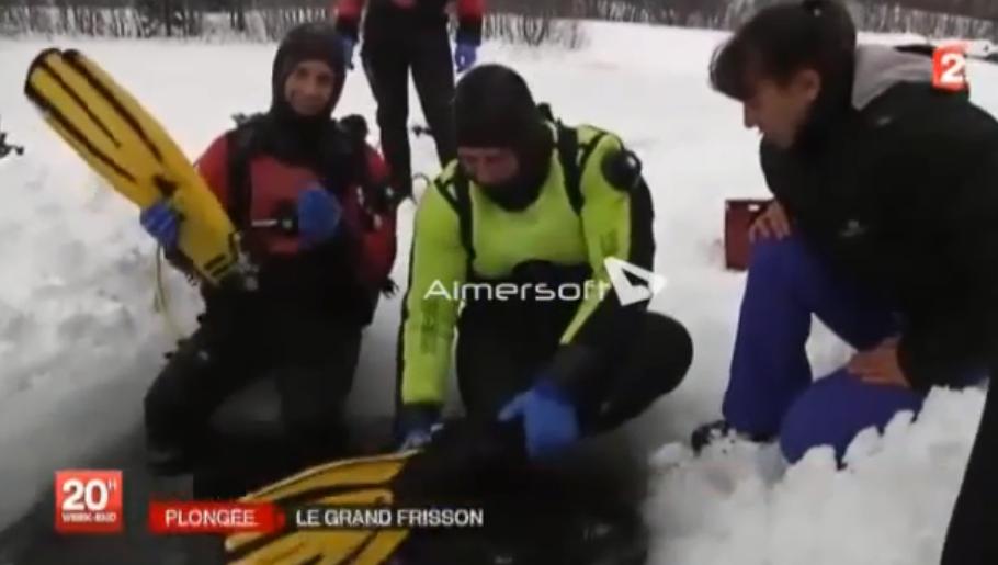 20h france 2 - avril 2015 - plongée sous glace - bessans