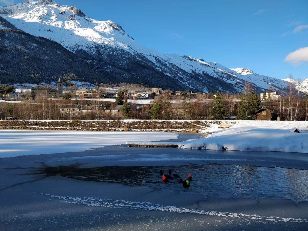 Ice Floating detente a val cenis