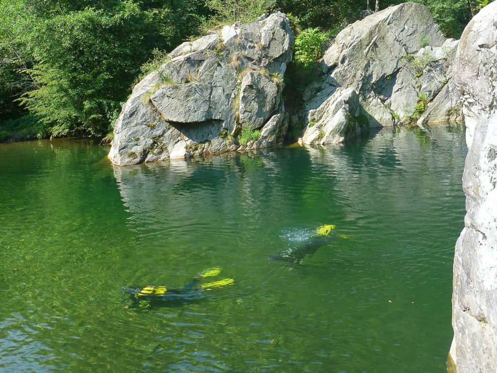 bapteme plongee en rivière - savoie