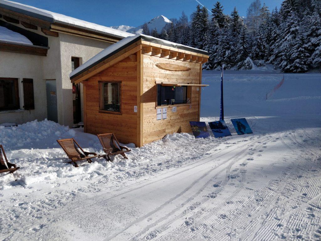 guinguette monolithe ski aussois