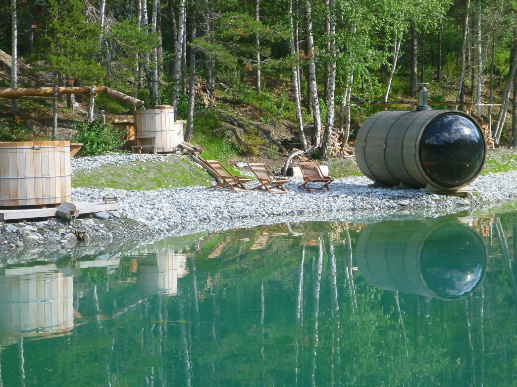 sauna cosmic spa en extérieur val cenis
