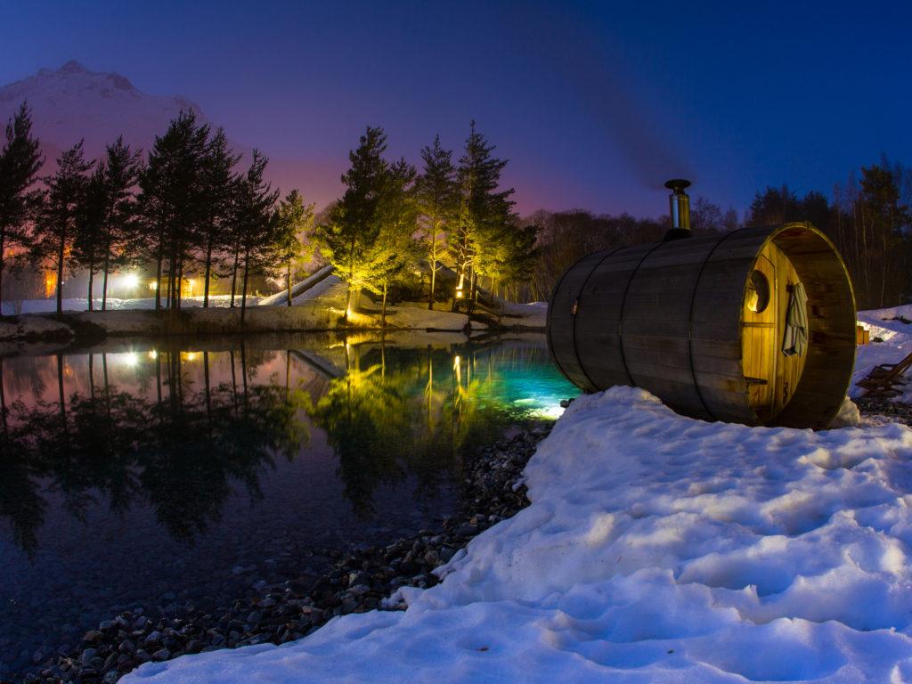 Spa val cenis sauna exterieur sensations vanoise