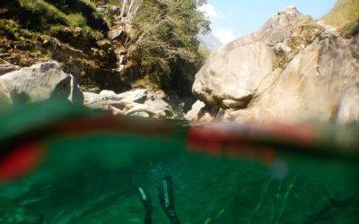 La plongée en rivière chez Sensations Vanoise…