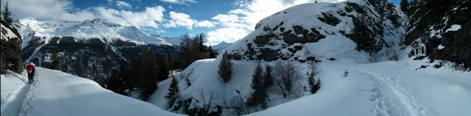 Balade en raquette à Val Cenis