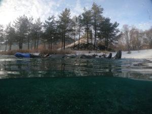 détente en eau glacée à val cenis