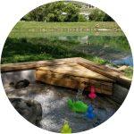 Base aqualudique lac savoie peche canard